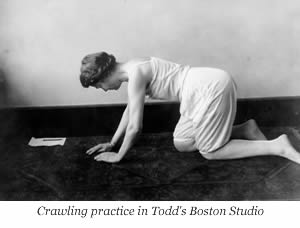 Image result for Mabel Todd demonstrating crawling photo